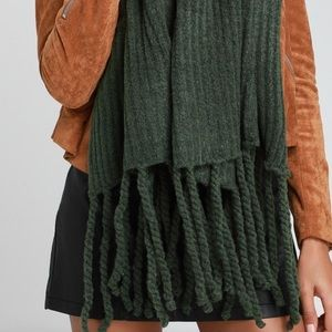 Free People Jaden Ribbed Fringed Blanket Scarf 🧣
